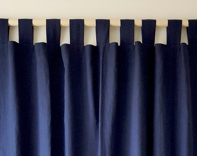 Linen Tab top curtains Shabby chic curtains Privacy curtains Organic curtains
