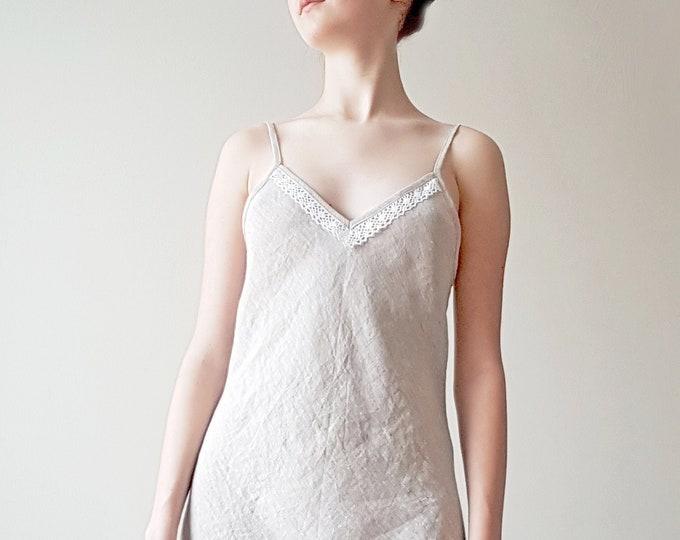 Long linen nightgown Women sleepwear Nightdress Slip dress Linen dress Gift for women
