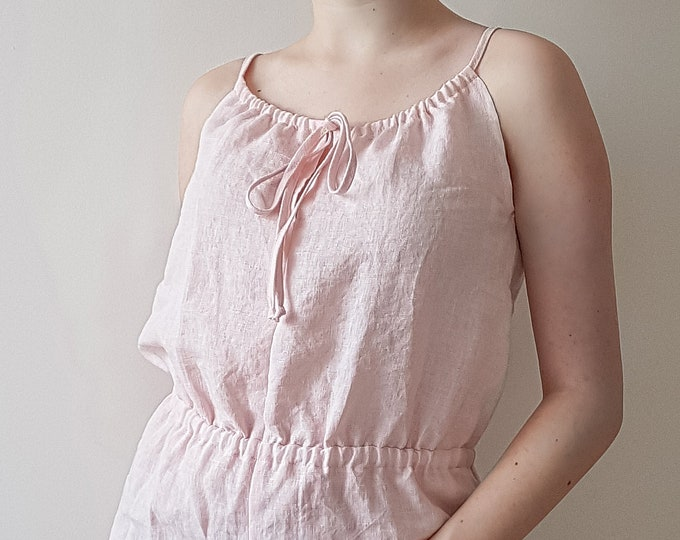 Linen loungewear ANNA. Women pajama