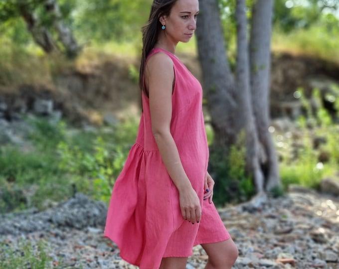 Linen Summer Dress DENISE / Handmade Linen Clothing