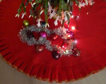 christmas tree skirt christmas decorations natural linen burlap choose the diameter burlap tree skirt christmas in - Christmas Tree Skirts Etsy
