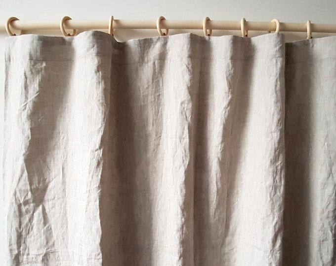 Linen curtains Pencil pleat curtain panel Organic fabric