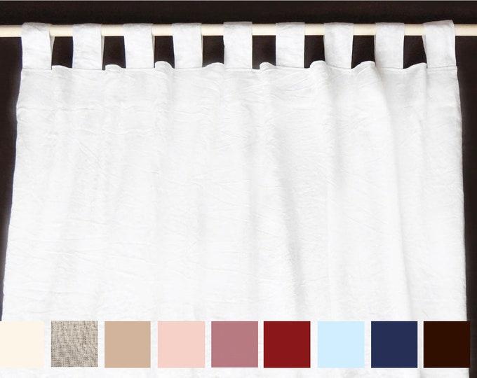 Linen curtains Tab top curtains Shabby chic curtains Organic curtains