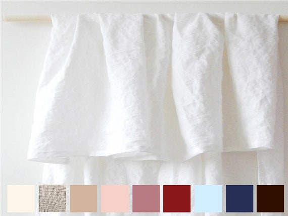 Weiße Bettwäsche Vorhänge Shabby chic Vorhänge Bio Vorhänge, die Fenster  drapiert