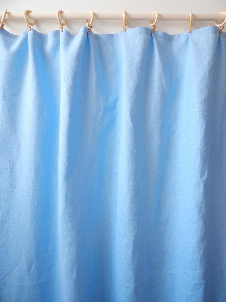 Chambre Bleu Ciel Et Lin rideaux de lin / rideaux bleu ciel / rideaux chics shabby / rideaux  organiques
