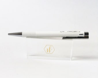 302b55c40feb Lamy Logo Alpine White Stickered New In Box With Extra Refill Ready To Use  Writes In Black And Blue Older Colour