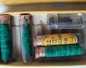 Two Boxes Of Antique Mechanical Pencil Fillings And Wollfs Washable Mechanical Pencil For Antique Collectors