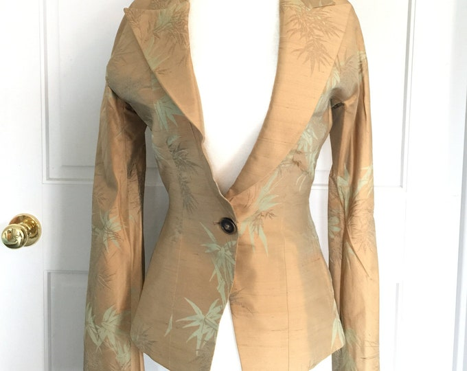 Vintage RICHARD TYLER Asian inspired silk evening jacket Size 6