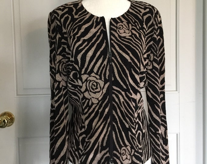 Vintage JOSEPH RIBKOFF beaded evening jacket. Size 10