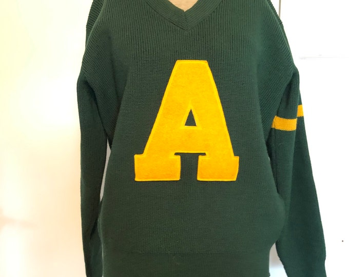 Vintage Wool/Nylon letterman sweater