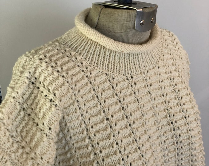 Vintage Hand Knit roll neck sweater Women's M/L