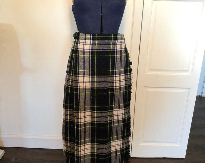 Full length wraparound maxi kilt in Gordon tartan