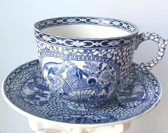 Antique William Adams oversized teacup e72040d61