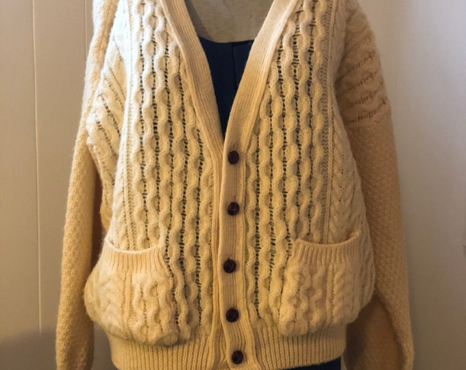 Vintage wool Borderglen mens cardigan XL