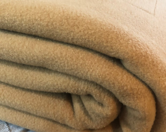 Vintage Camel Hair Blanket.