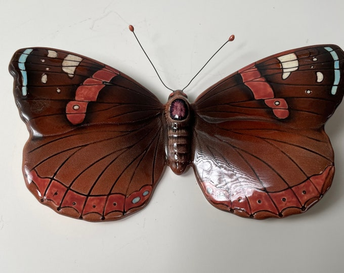 Vintage Beswick Pottery Red Admiral  butterfly  Model 1488