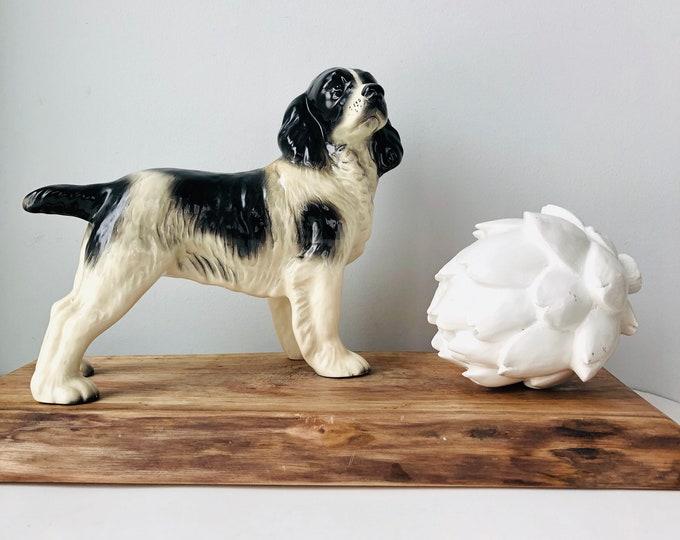 Vintage porcelain Springer Spaniel Large Figurine