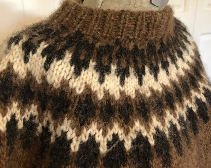 Vintage Hand Knitted Icelandic style sweater