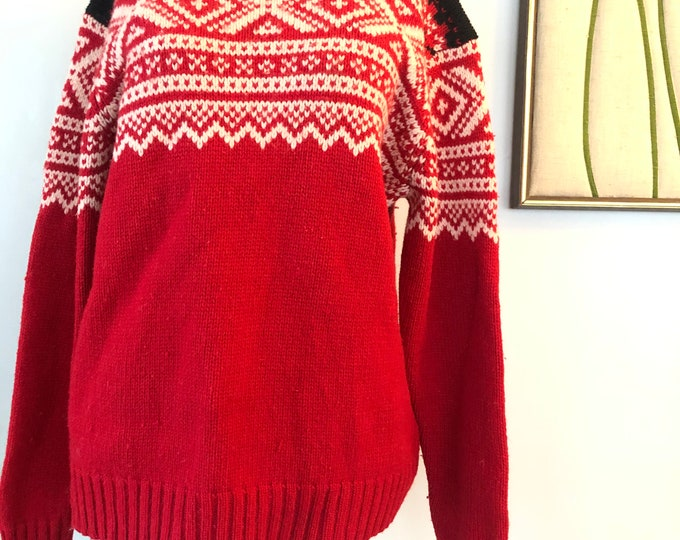 Vintage Nordic sweater - Lillunn of Norway - L-XL