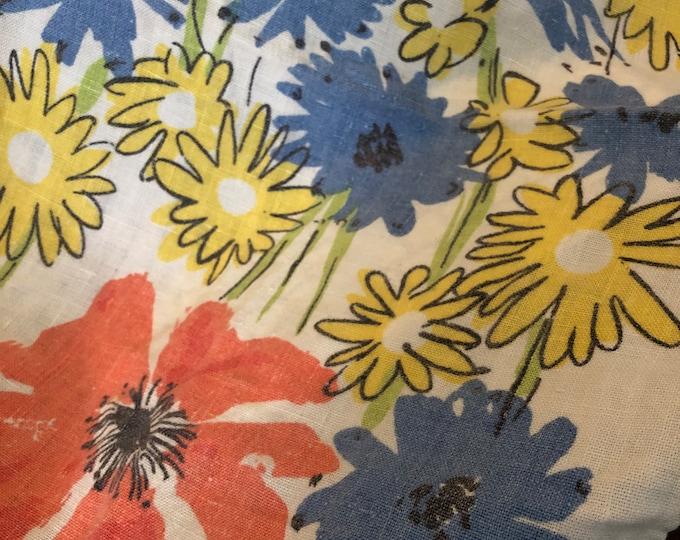 Vintage Vera Tea towel - poppies