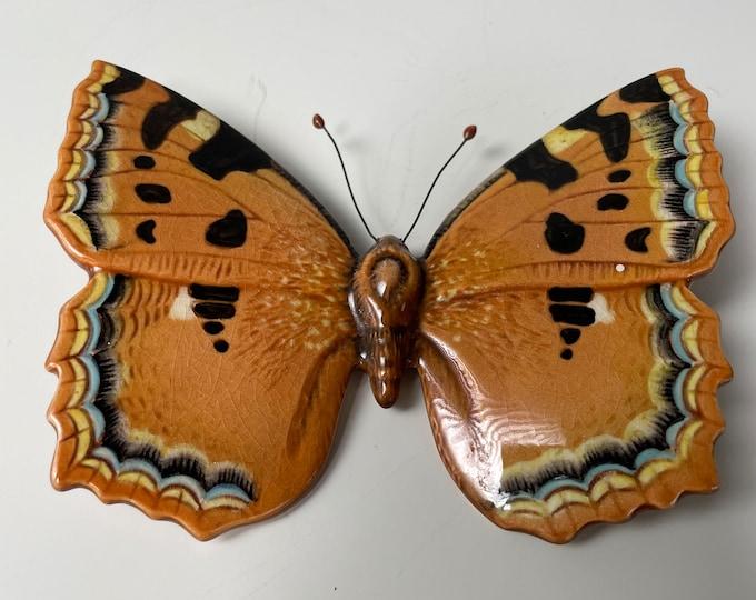 Vintage Beswick Pottery Large Tortoiseshell butterfly  Model 1491