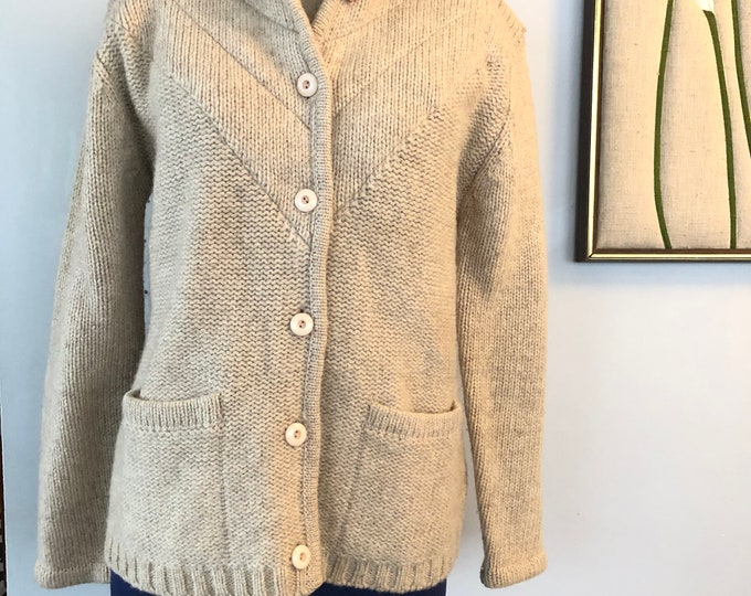 Vintage Spanner pure new wool cardigan/jacket M