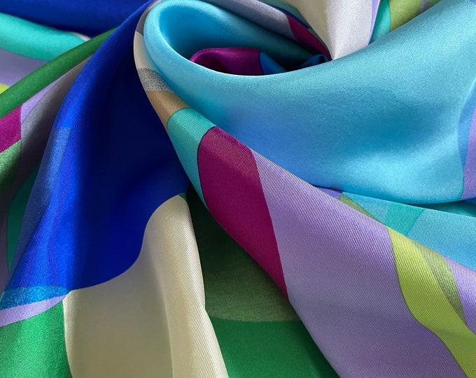 Vintage ECHO 100% silk scarf. Multicoloured
