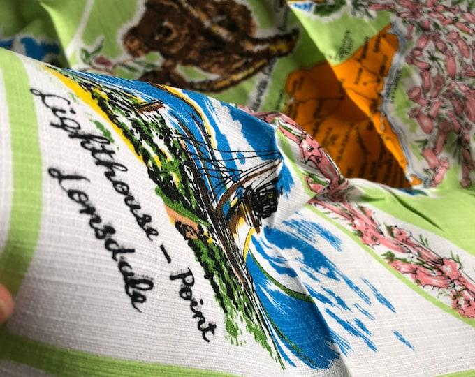 Vintage Souvenir Print Kitchen Tablecloth - Victoria, Australia Map - Wall hanging