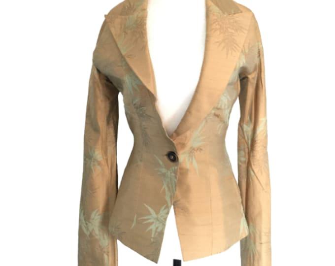 Vintage RICHARD TYLER Asian inspired silk evening jacket Size 6