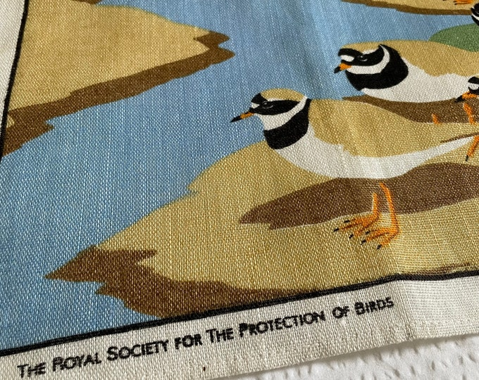 Vintage National Trust Society for protection of birds Linen tea towel.