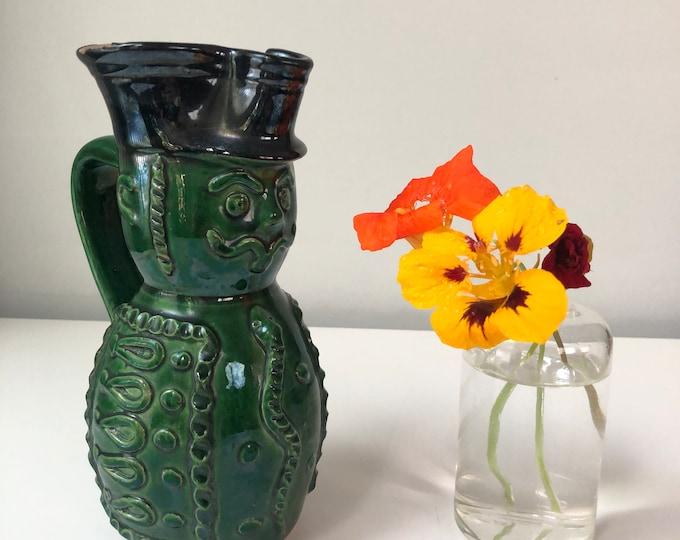 Vintage Folk Art Pottery Miska Jug -  Hussar Soldier