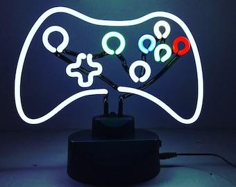 Xbox Controller Neon Light  - Retro Neon Light  Gaming Decor.  Videogame Decor - Gamer Lighting - Xbox gift.  xbox light gamer light.
