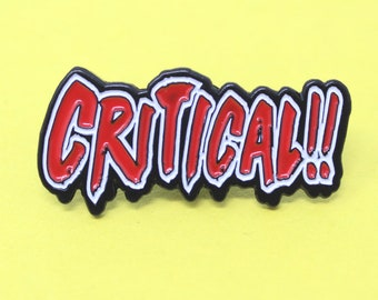 Critical Hit Pin - RPG Critical Pin - RPG Pin featuring the calssic Critical Hit indicator - Funny Retro Gamer Pin - approximately 1.5 x 1.5