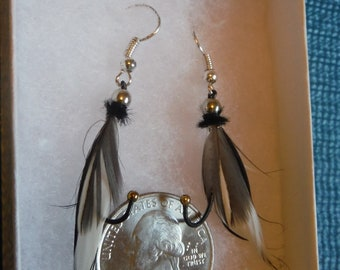 Quail and Sliver Earrings.