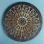 Ray of Sunshine Mandala - Lasercut Wood