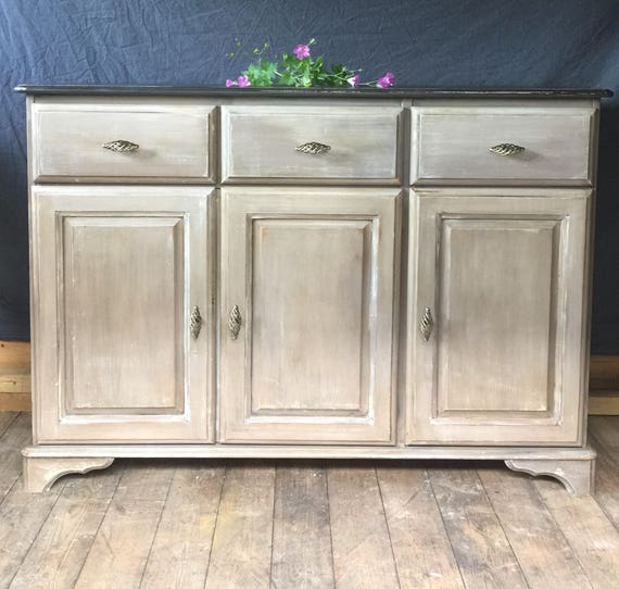 Sold Hand Painted Sideboard Buffet, Sideboard Buffet Furniture