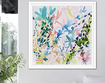 Flower Painting, Flower Abstract Art, Wall Decor, Abstract Flower Painting, Modern Floral Art