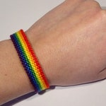 Gay Pride Flag bracelet - love friendship handwoven giftidea support respect awareness macrame homo lesbian LGBT rainbow