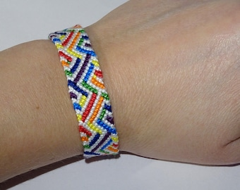 Friendship bracelet - wayuu ethnic aztec tribal macrame gypsy andean braided wristband hippie boho mochila bresilien bohemian