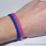 Bisexual Pride Flag bracelet - love friendship handwoven giftidea support respect awareness macrame bisexuality LGBTQ