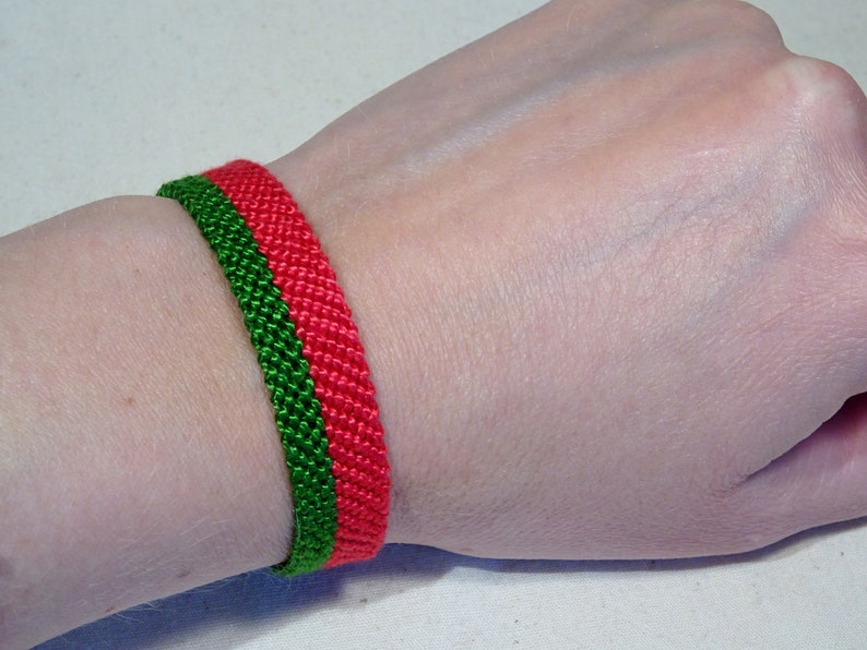 Flag bracelet  Portugal Belarus Portuguese handwoven giftidea image 0