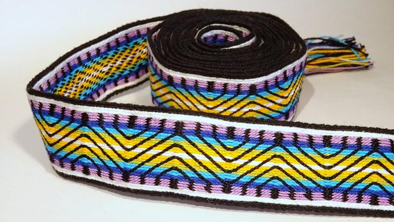 Handwoven band  tablet weaving inkle card loom mochila wayuu image 0