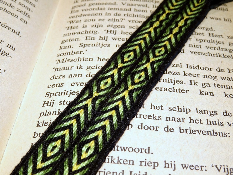 Woven bookmark  tablet card weaving tabletwoven ethnic hippie image 0