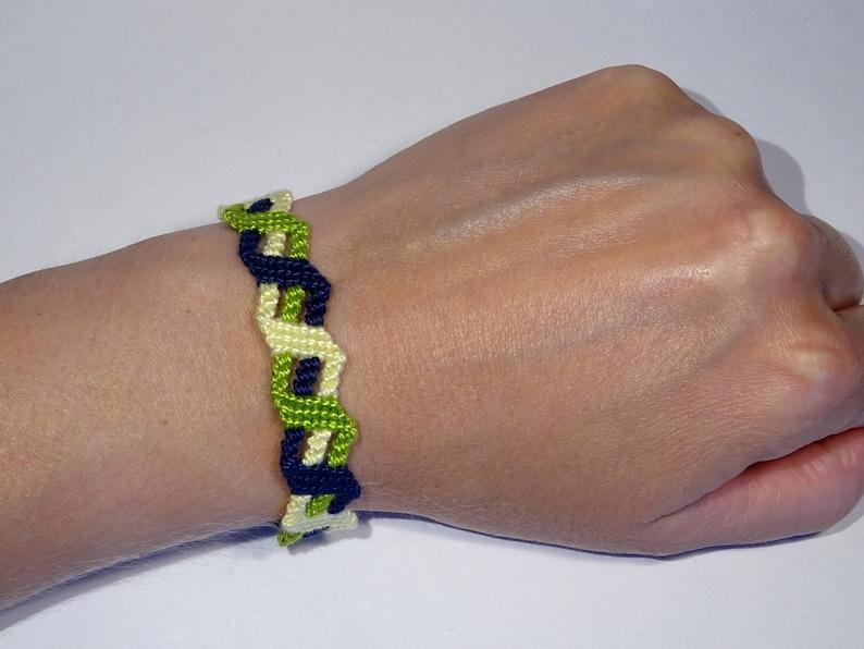 Three-Colour-Bracelet  macramé friendship bracelet gift image 0