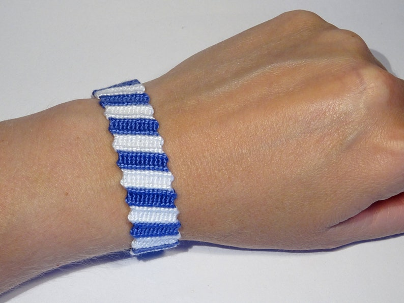 Friendship bracelet  marine nautical sailor hippie ibiza image 0