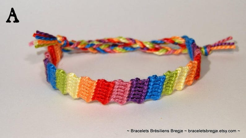 Kids friendship bracelet  macrame children ibiza rainbow A