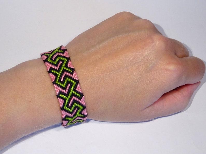 Friendship bracelet  macrame hippie cotton gypsy ethnic boho image 0