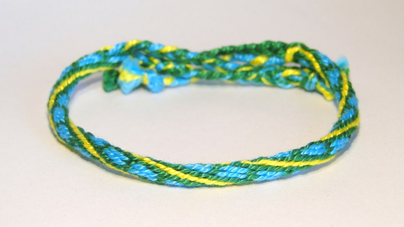 Kumihimo bracelets  handmade  Japan  ethnic  tribal  Green/blue