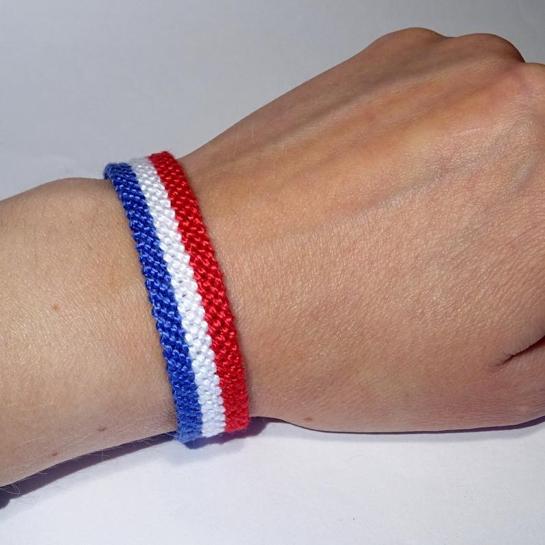 a01d459c8f04 Flag bracelet France Dutch Netherlands Holland French | Etsy
