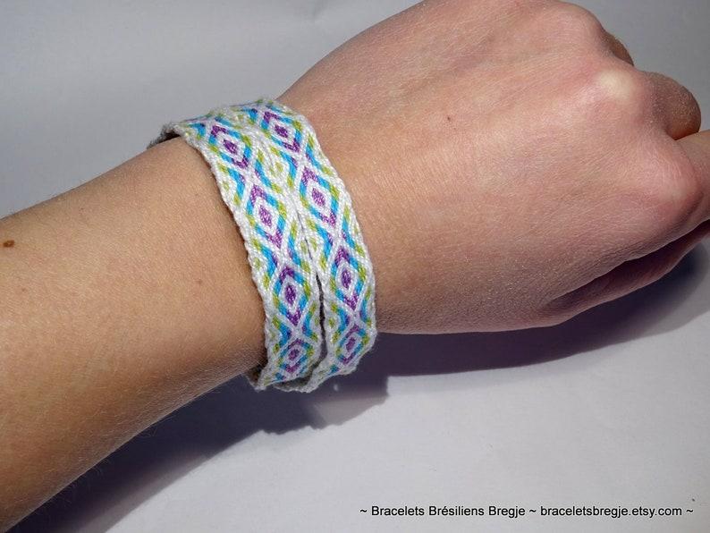 Woven bracelet  tablet weaving handwoven ethnic boho card image 0